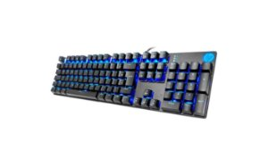 Teclado Mecânico Gamer HP GK400F USB Led Azul Switch Blue ABNT2 Preto - HP