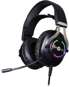 Headset Gamer HP H360GS, Drivers 50MM, USB, 7.1 Surround, RGB, Preto - HP