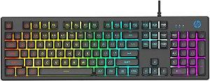 Teclado Gamer HP K500F, RGB, ABNT 2, USB, Preto 7ZZ97AA#AC4 - HP
