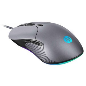 Mouse Gamer HP M280 2400 DPI, RGB, Chumbo - HP