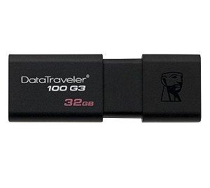 Pen Drive Kingston DataTraveler USB 3.0 DT100G3/32GB Preto - Kingston