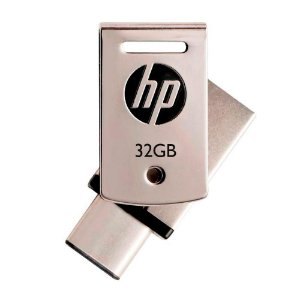 Pen Drive 32gb USB 3.1 + Tipo C X5000M - HP