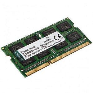 Memória Ram 8GB DDR3L 1600mhz Kingston - Notebook - Kingston