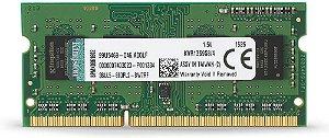 Memória Ram 4gb DDR3 1333mhz CL9 KVR13S9S8/4 SODIMM Para Notebook - Kingston