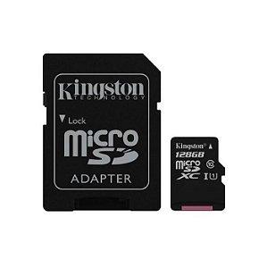 Cartão de Memória Micro SD Kingston 128GB Class 10 UHS-I 80R Canvas - Kingston