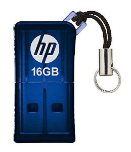 Pen Drive 16gb Usb Mini V165W Azul - HP
