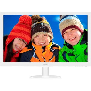 "Monitor 21,5"" PHILIPS LED BRANCO 223V5LHSW HDMI - PHILIPS"