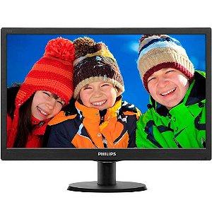 """Monitor LED 18,5"""" 193V5LSB2 Wide VGA Vesa Preto - Philips"""