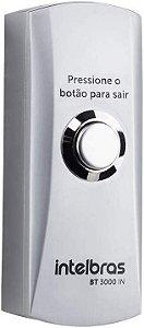 Botão de Saída Inox com Caixa Prata (Botoeira) BT 3000 IN - Intelbras