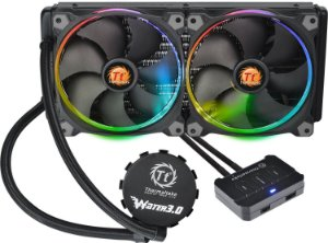 Water Cooler Thermaltake Water 3.0 RIING LED RGB 280 CL-W138-PL14SW-A - Thermaltake