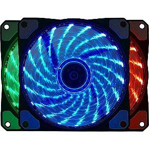 Cooler Fan Bluecase BF-06RGB, RGB 7 Cores, 12cm BF06RGBCASE BOX - Bluecase