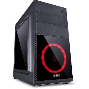 Gabinete Gamer PCYes Mercury, Mid Tower, USB 3.0, 1 Fan LED Vermelho, Preto, Lateral Acrílica MRCPTVM1FCA - PCYes