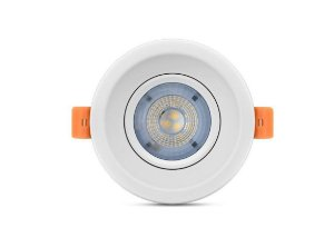 Luminária Spotlight 5W Led 6500k Recuado Redondo Direcionável de Embutir Bivolt 48ECORLRBF01 - Elgin