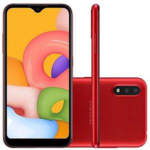Smartphone Samsung Galaxy A01 32Gb Câmera Dupla 13MP Tela Infinita SM-A015MZRSZTO Vermelho - Samsung