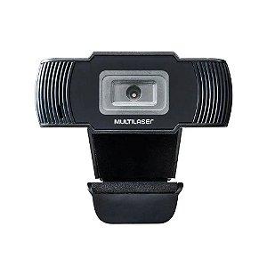 Webcam Multilaser Office, Hd 720P, 30fps, Usb, Preta AC339 - Multilaser