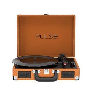 Vitrola Retrô Berry Pulse SP364 Suitcase Com Bluethooth Bivolt Marrom - Multilaser