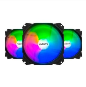 Cooler Kit 3 Fans Gabinete 120x25mm Rgb M120-P KIT Max Series - Alseye
