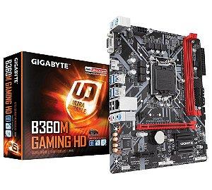 Placa Mãe Gigabyte B360M Gaming HD Intel LGA 1151 mATX DDR4 - Gigabyte