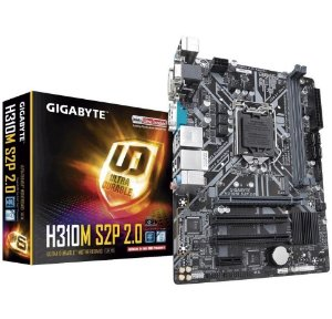 Placa Mãe Gigabyte GA-H310M S2P 2.0 DDR4 Serial D-Sub DVI USB 3.1 HDMI M.2  - Gigabyte