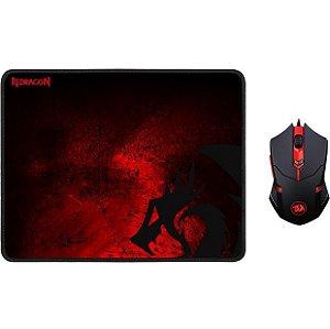 Kit Gamer Redragon Mouse Centrophorus Com Mousepad Control Médio M601 BA - Redragon
