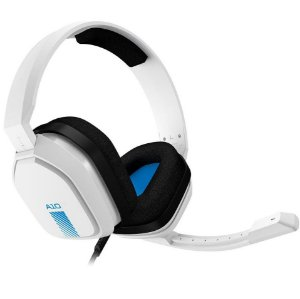 Headset Astro Gaming A10 para PlayStation Nintendo Switch PC e Xbox Branco e Azul  - Logitech