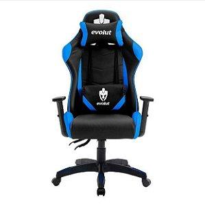 Cadeira Gamer Evolut Lite EG-904 Azul - Evolut