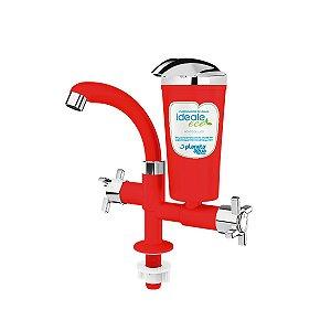 Purificador de Água de Bancada Ideale Eco Vermelho/ Cromado