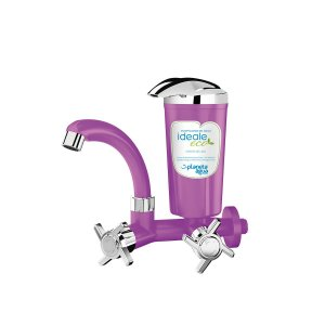 Purificador Água Declorador Ideale Eco Roxo/Cromado - Parede