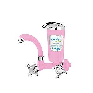 Purificador Água Declorador Ideale Eco Rosa/Cromado - Parede