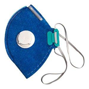Máscara Respirador Azul Lubeka PFF2 C/ Válvula - 38829