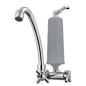 Purificador De Água Alcalina E Bacteriológico Com Torneira ACQUA MIL - Cinza