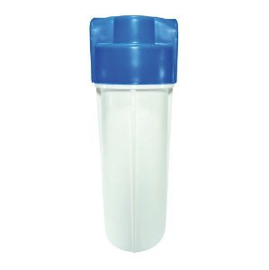 "Carcaça para Filtros de Água 10""x2,5 Branca/Azul C/ Rosca 3/4"" Metálica (Vazia)"