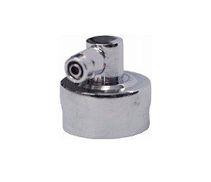 """Cotovelo Metal 90° P/ Filtro Rosca 3/4"""" Saída Mangueira 1/4"""" (6 mm)"""