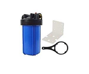 "Carcaça para Filtro de Água Big Blue 10""x4,5"" - Rosca 1"" (Vazia)"