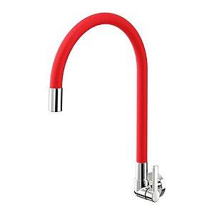 Torneira Docol para cozinha de parede Galiflex Vermelha - Flexível