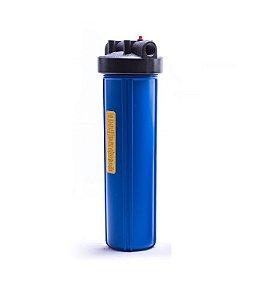 "Carcaça Plástica Filtro de Água BIG 20x4.1/2 - Conexão 1"" (VAZIA)"