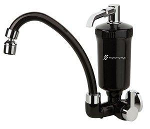 Filtro Purificador de Água Bica Móvel Preto / Cromado