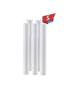"""Kit 5 Unidade Refil Polipropileno 20 Micra P/ Filtro 20x2,5"""""""