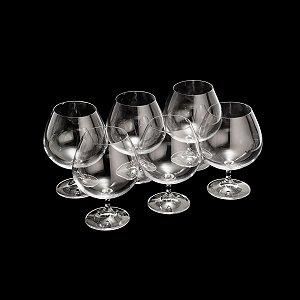 Conjunto 6  Taças Cristal Cognac Gastro Colibri  690ml Bohemia