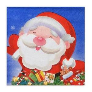 Guardanapo Natalino de Papel Papai Noel 20 Folhas Mabruk