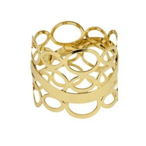 Anel de Guardanapo Espanha Dourado Avulso Mimmo Style