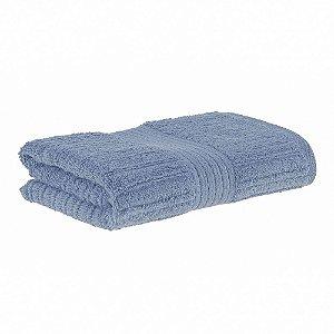 Toalha rosto fio penteado canelado 48x85 azul Buddemeyer