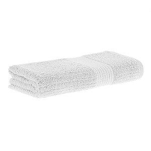 Toalha banho fio penteado canelado 70x140 branco Buddemeyer
