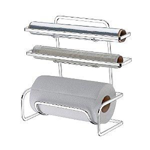 Suporte P/ Rolos Papel Toalha/aluminio/pvc Future