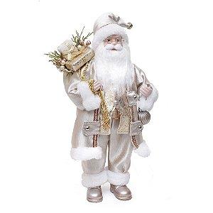 Papai Noel Com Bola Ouro E Branco P 1UN Cromus