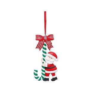 Enfeite P/Pendurar Papai Noel Biscuit Cromus 1UN