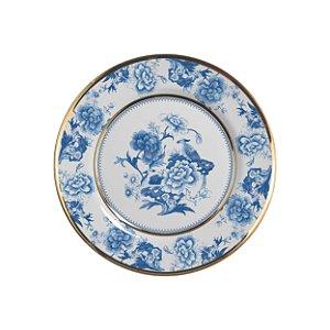 Jogo Prato de Sobremesa Chinese Blue Filete Ouro 6 unidades Alleanza