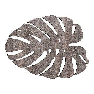 Jogo Americano Folha de Adao Art Wood Avulso Cinza Copa e Cia