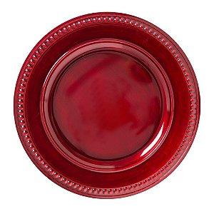 Sousplat Galles Dots Rouge Antique Avulso Copa e Cia