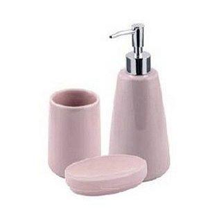 Jogo De Banheiro Pale Softpink 3pçs Mimo Style